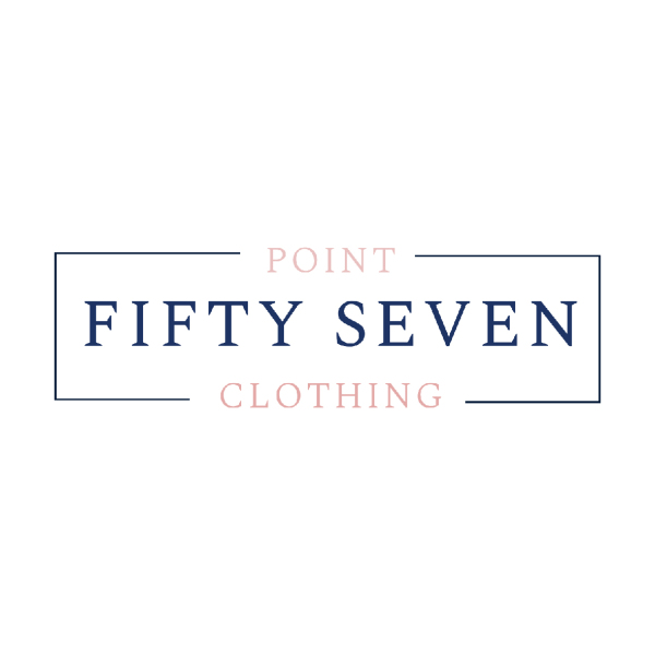 Rectangular pastel logo for Point Fifty Seven